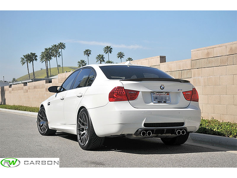 RWcarbon.com has you covered for your BMW E90 Performance Style Carbon Fiber Trunk Spoiler