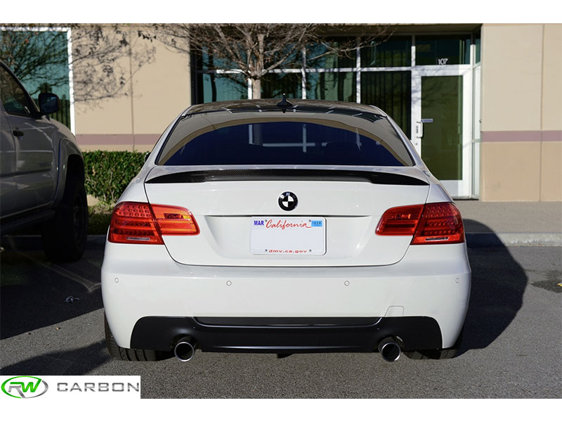 Get added style and exterior appeal with the BMW E92 Carbon FIber Performance Style Trunk Spoiler