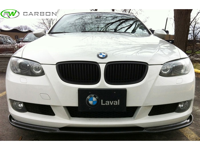 Subtle appearance easy installation from this rwcarbon bmw e92 hamann style carbon fiber front lip