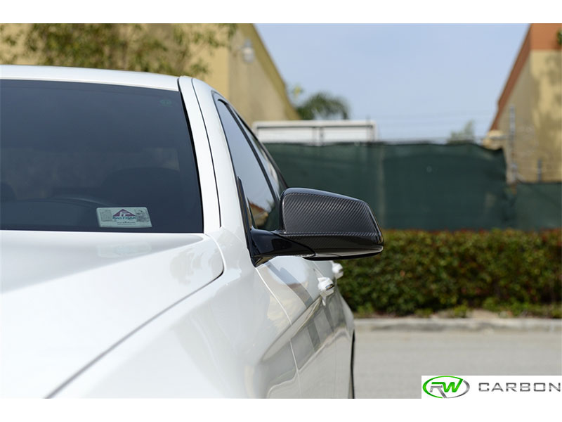 Updated exterior style and appeal with our BMW F10/F11 Carbon Fiber Mirror Covers
