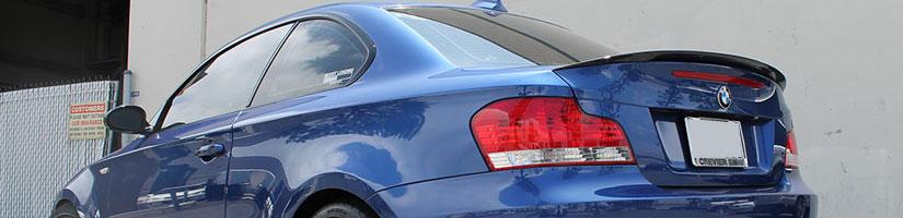 RW Carbon Carbon Fiber Performance Trunk Spoiler Installed on a BMW E82 135i