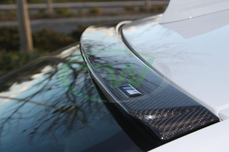 RW Carbon now carries carbon fiber roof spoilers for all BWM F30 models
