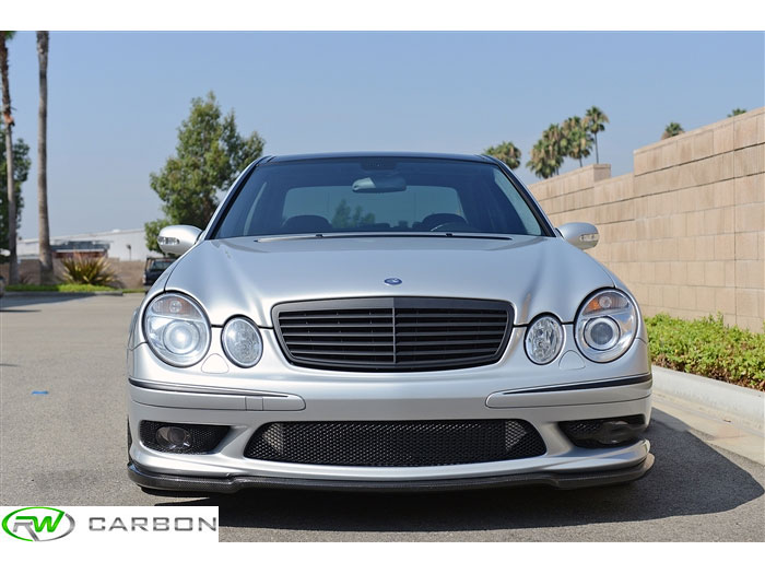Whether you own a Mercedes W211 E55 amg or an E500/E550 with the amg front bumper this carbon fiber lip will set off your exterior appearance
