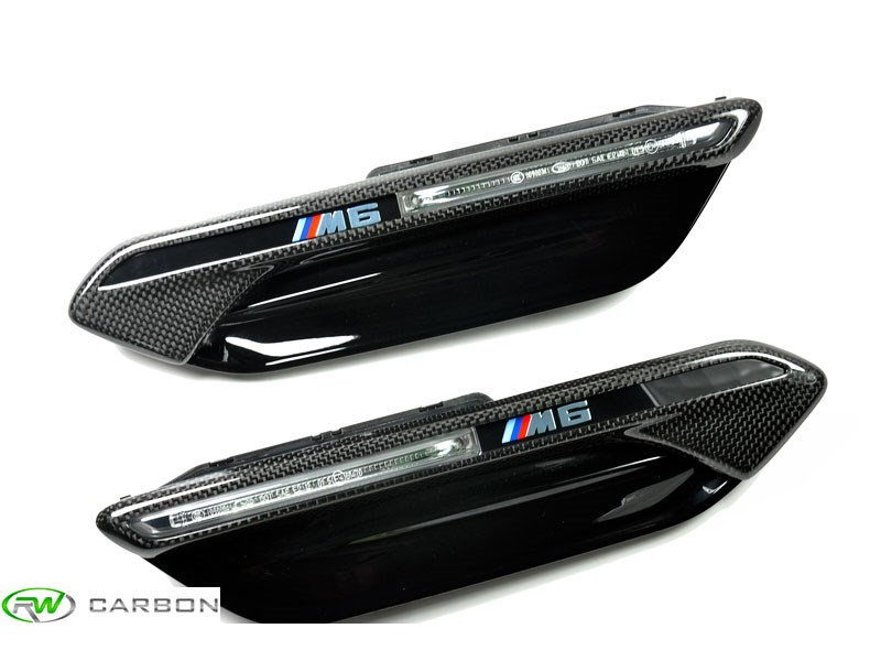 Carbon fiber Fender Trims for the 2012+ BMW coupe, gran coupe and convertible M6
