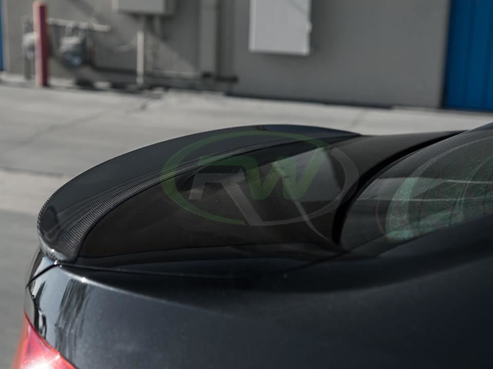 Rw Carbon fiber bmw f30 335i trunk spoiler performance style