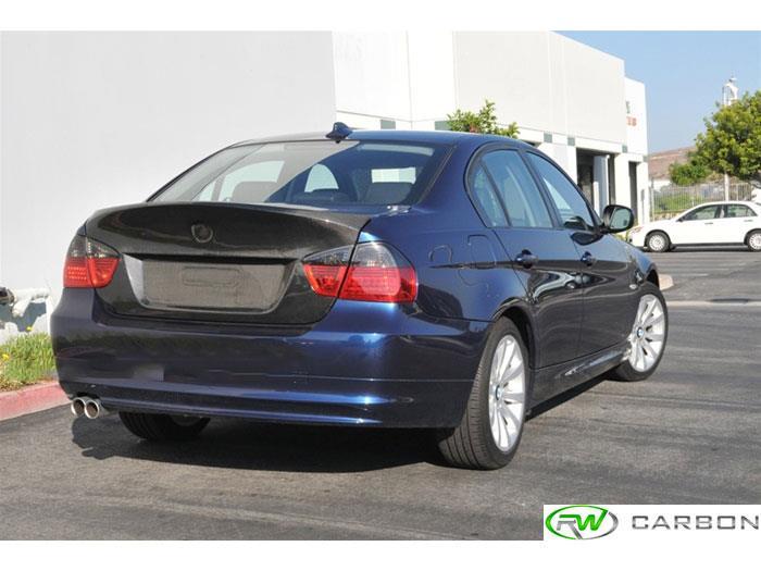 Rw carbon bmw e90 sedan csl style carbon fiber bootlid trunk 2 jpg