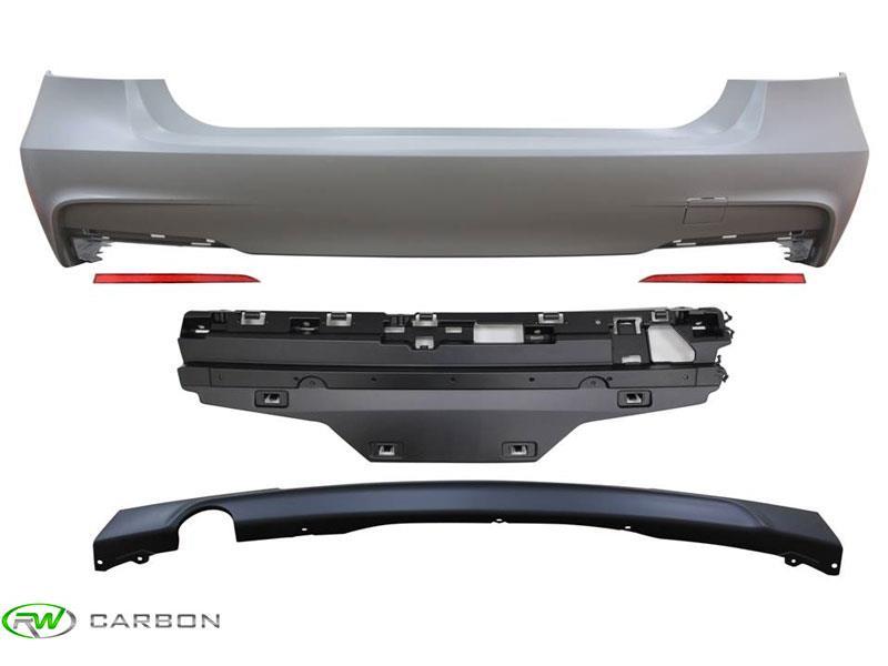BMW F30 M-TECH CARBON FIBER REAR BUMPER SIDE EXTENSIONS FOR M TECH BUMPER