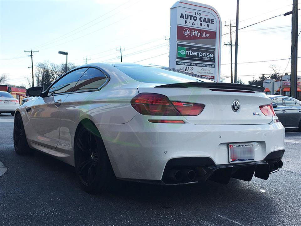 White BMW F13 M6 with an RW DTM Diffuser