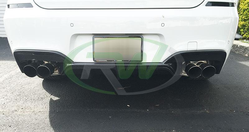 BMW F13 640i in white with an RW Carbon Fiber Diffuser
