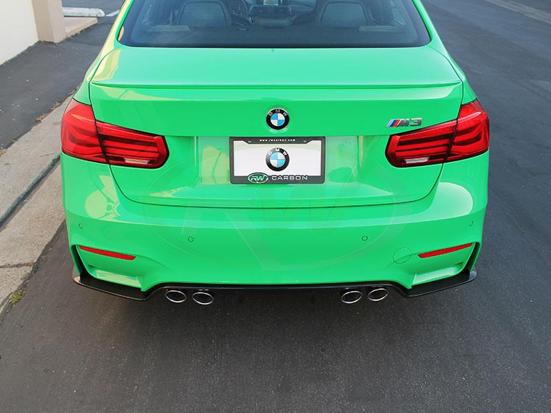 Signal Green BMW F80 M3 with an RW 3D Style Carbon Fiber Diffuser