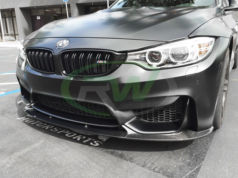 BMW F80 M3 in frozen black with 3D Style CF Front Lip