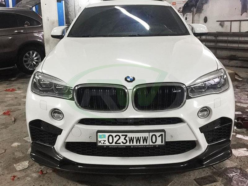 BMW F86 X6M with the RW 3D Style Carbon Fiber Lip