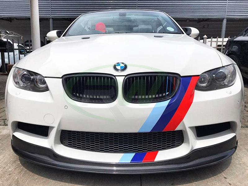 White BMW E92 M3 with an RW Carbon Fiber Arkym Style Front Lip