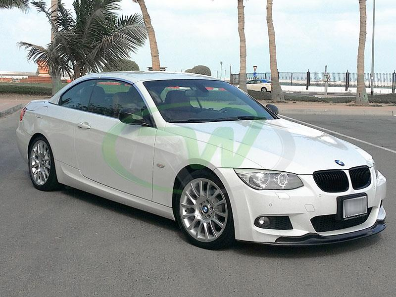 2011 Bmw 328i m sport fitted with arkym style carbon fiber lip from rw carbon