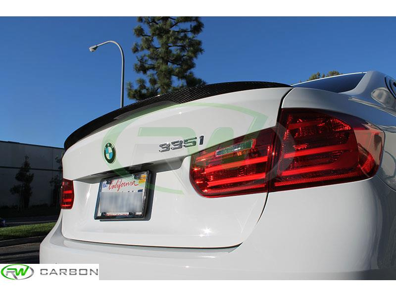BMW F30 Sedan Performance Style Carbon Fiber Trunk Spoiler