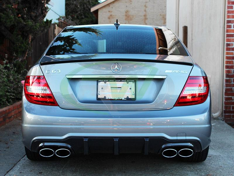 Mercedes W204 C63 AMG with a Big Fin Carbon Fiber Diffuser