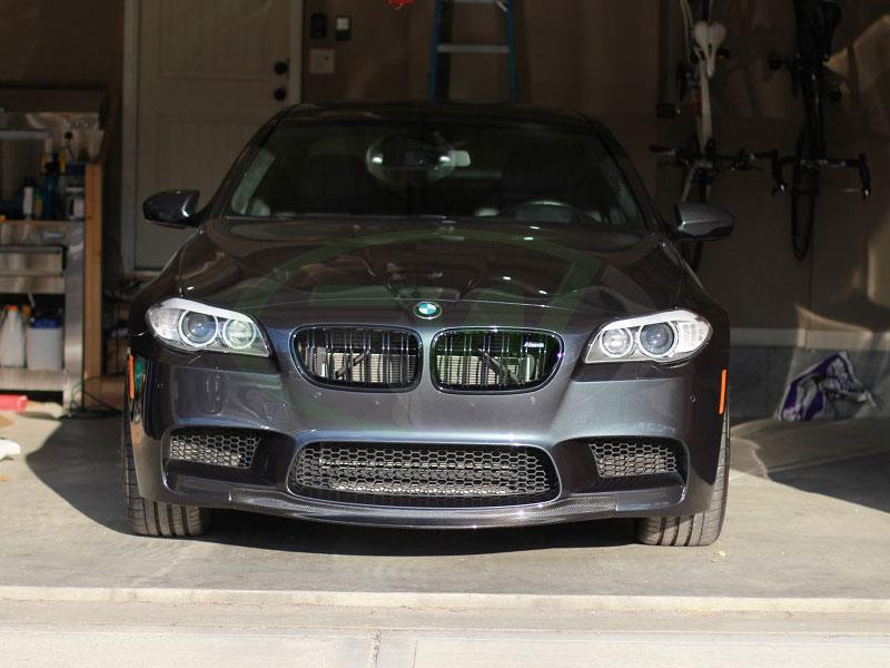 Grey BMW F10 M5 with an RW Center Carbon Fiber Front Spoiler