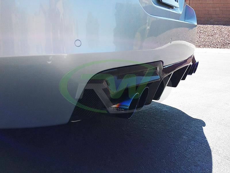 BMW F10 550i M Sport with an RW DTM Carbon Fiber Rear Diffuser