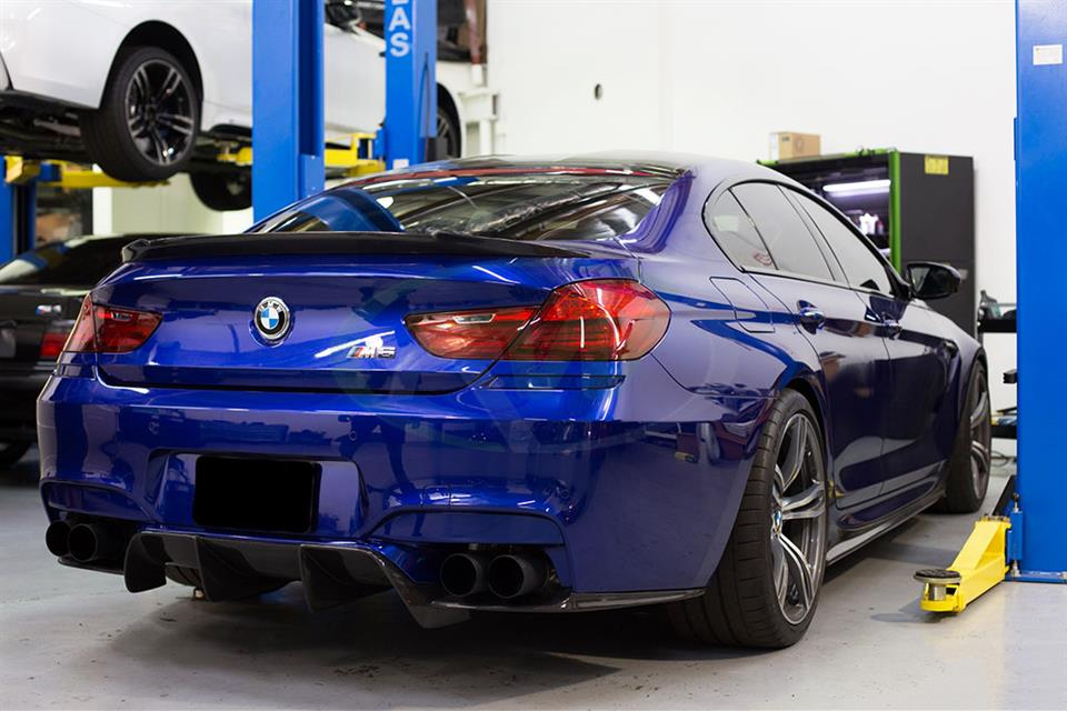 Blue BMW F13 M6 with an RW DTM Carbon Fiber Rear Diffuser