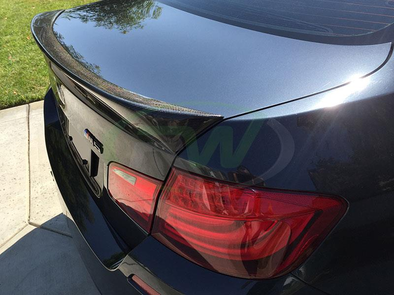 BMW F10 M5 with an RW DTM Carbon Fiber Trunk Spoiler
