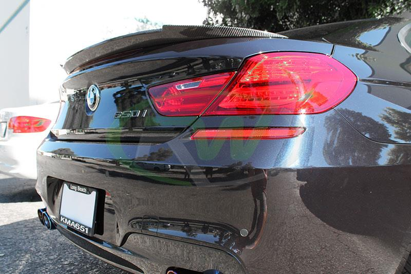 BMW F13 650i with an RW Carbon DTM Carbon Fiber Trunk Spoiler