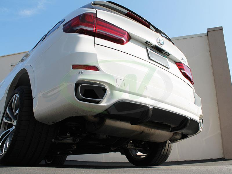 BMW F15 X5 M Sport Carbon Fiber Rear Diffuser by RW Carbon