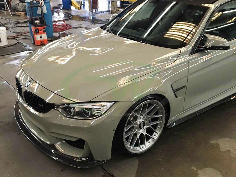 Fashion Grey BMW F80 M3 with ENS Style Carbon Fiber Front Lip