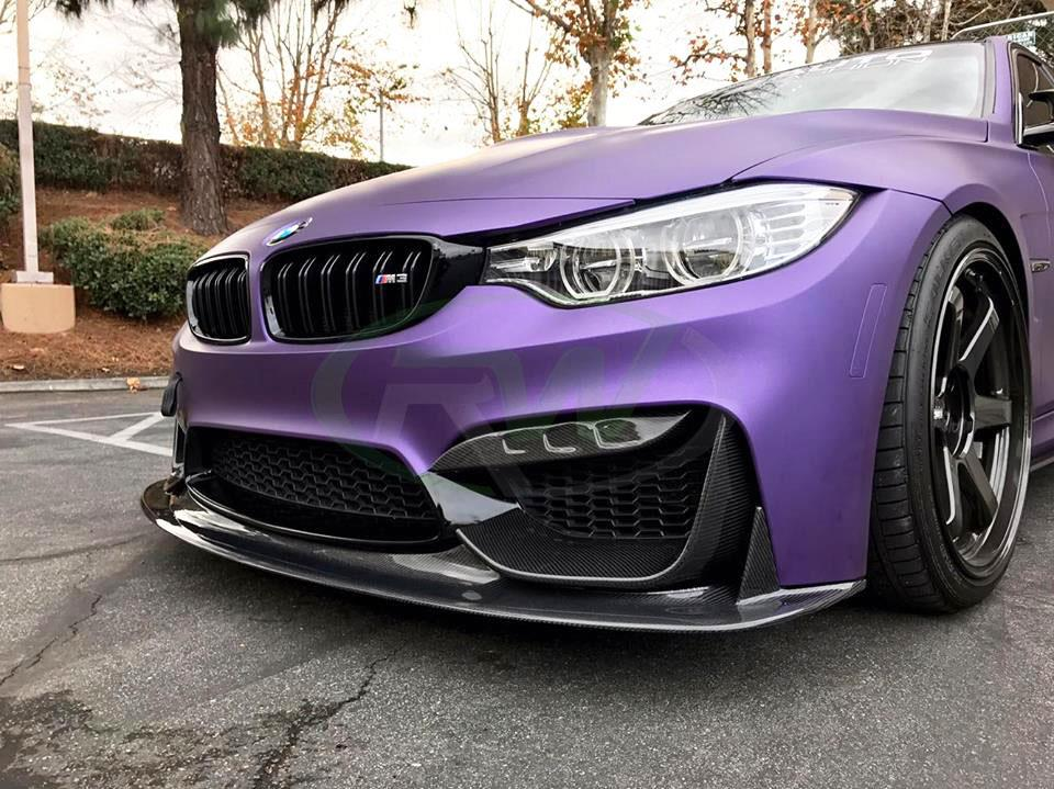 BMW F80 M3 with an RW ENS Style Carbon Fiber Front Lip Spoiler