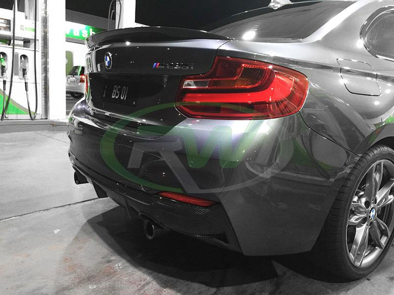 BMW F22 M235i with an RW Exotics Tuning Style Carbon Fiber Diffuser