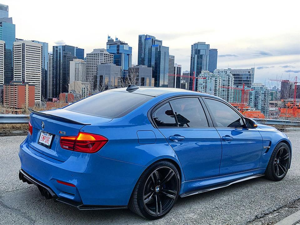Yas Marina Blue BMW F80 M3 with an Exotics Style CF Diffuser