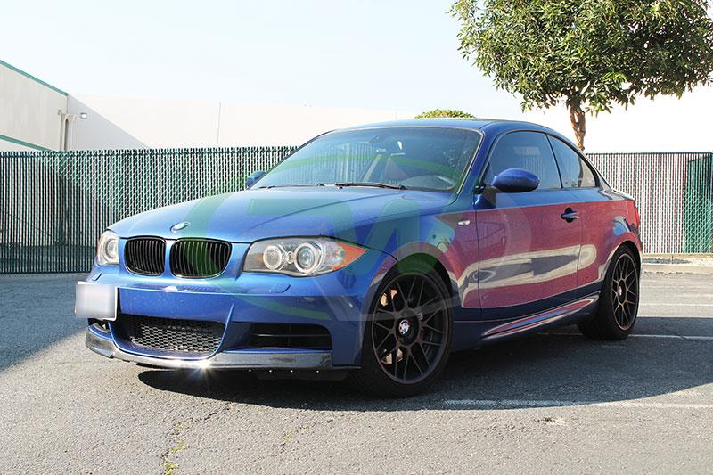 BMW E82 135i with an RW Carbon Fiber Front Lip Spoiler