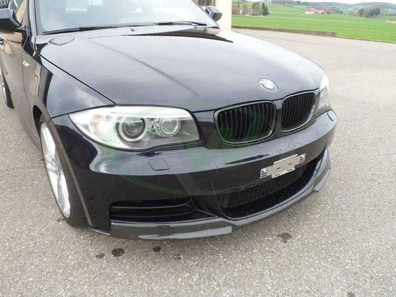 BMW E82 135i in Black with an RW Carbon Fiber Front Lip Spoiler