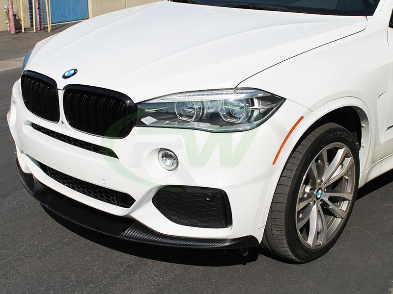 BMW F15 X5 M Sport Carbon Fiber Front Lip Spoiler from RW Carbon