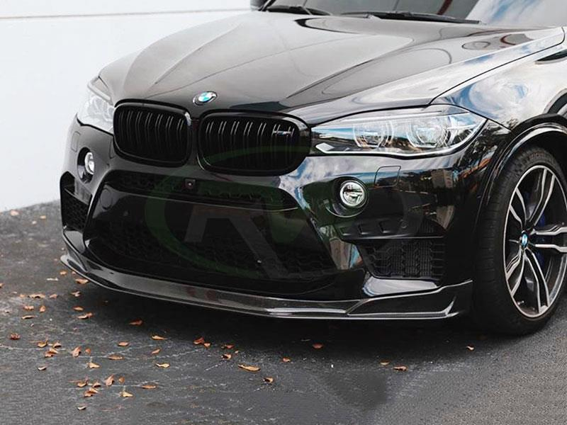 BMW F85 X5M with an RW Carbon Fiber Front Lip Spoiler