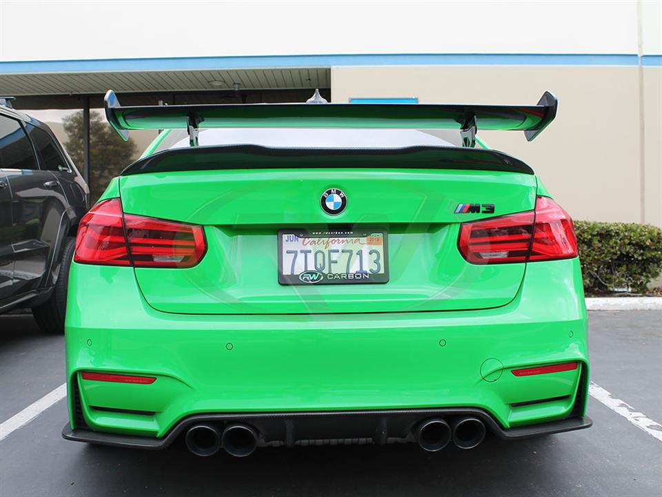 BMW F80 M3 with RW Carbon's New GTS Style Carbon Fiber Wing