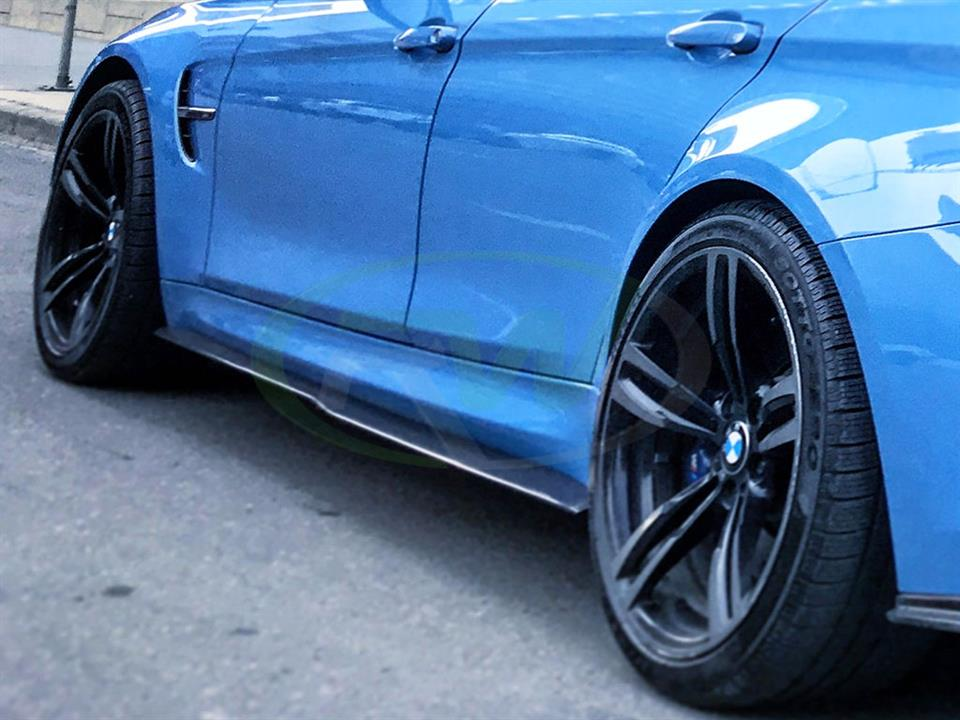 BMW F80 M3 GTX Carbon Fiber Side Skirt Extensions by RW
