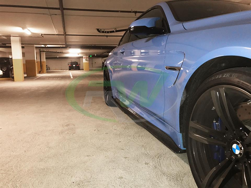 BMW F82 M4 with a set of RW GTX Carbon Fiber Side Skirt Extensions