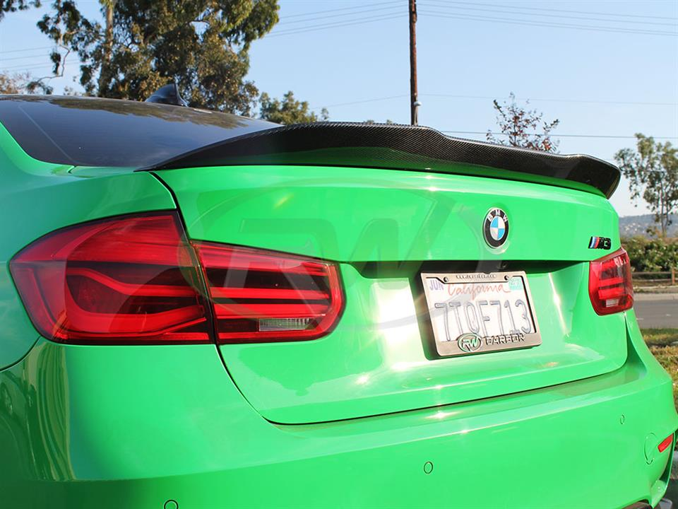 Signal Green BMW F80 M3 with an RW GTX Carbon Fiber Trunk Spoiler