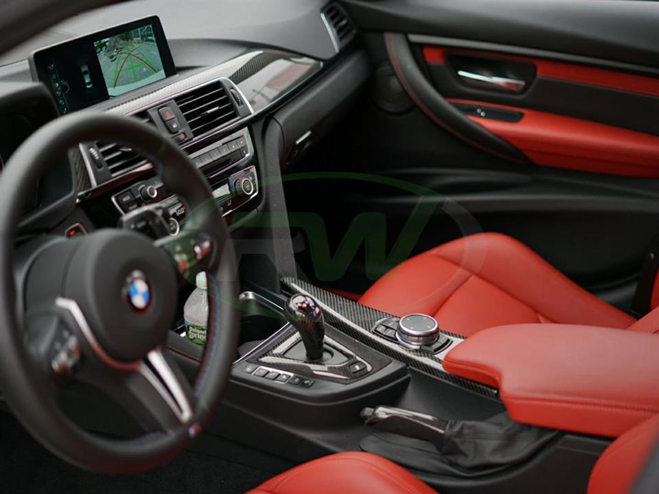 Carbon Fiber Alcantara Shift Console Trim Bmw F80 M3 F82