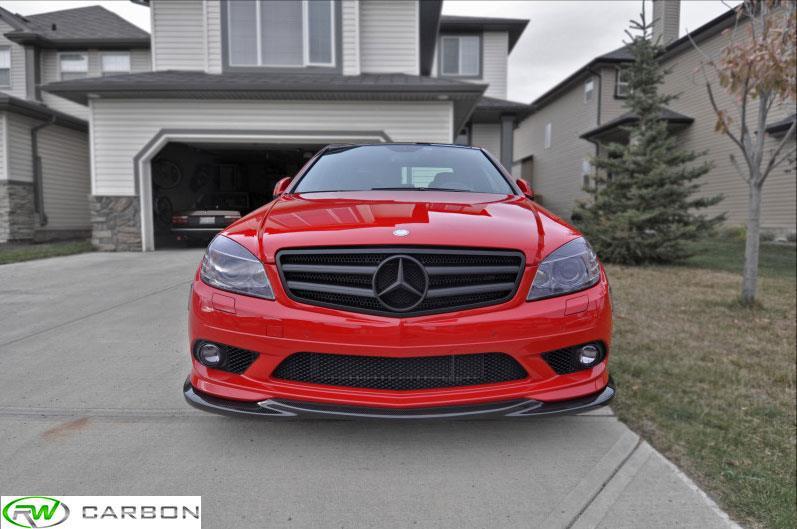 Rw carbon w204 c250 c300 c350 carbon fiber lips for Mercedes benz c250 2008