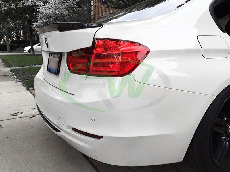 BMW F30 328i with a RW M4 Style Carbon Fiber Trunk Spoiler