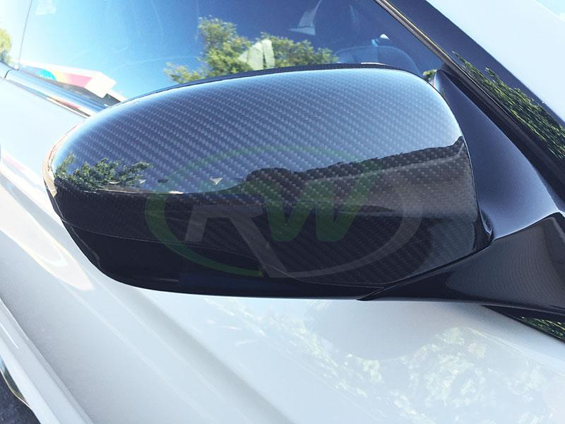 BMW F13 M6 with RW Carbon Fiber Mirror Cover Replacements