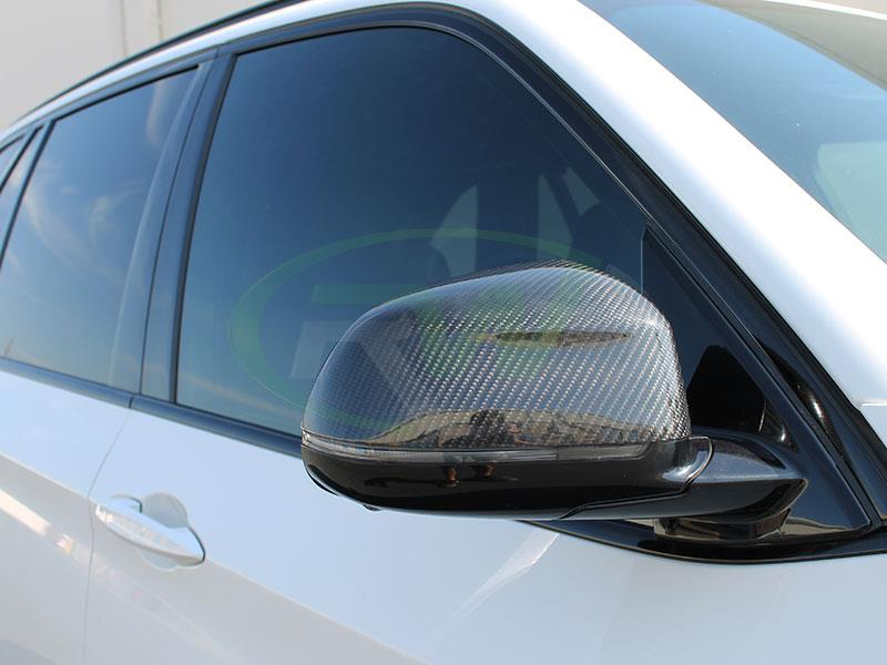 BMW F15 X5 Carbon Fiber Mirror Cap Replacements from RW