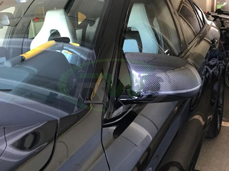 BMW F86 X6M CF Mirror Replacements by RW Cabon