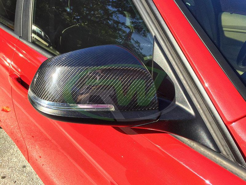 BMW F30 328i with RW Carbon Fiber Mirror Replacements