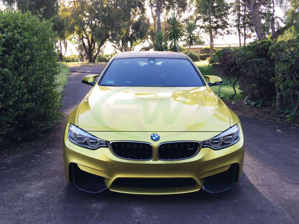 Austin Yellow BMW F82 M4 Performance Style Carbon Fiber Front Lip Spoiler