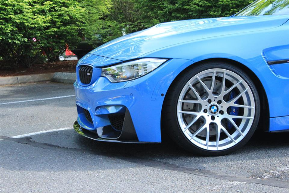 Yas Blue BMW F82 M4 Performance Style Carbon Fiber Front Lip Spoiler