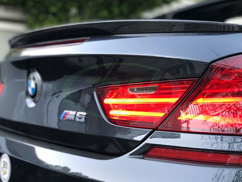 BMW F13 M6 with an RW Carbon Fiber Performance Style Trunk Spoiler in CF