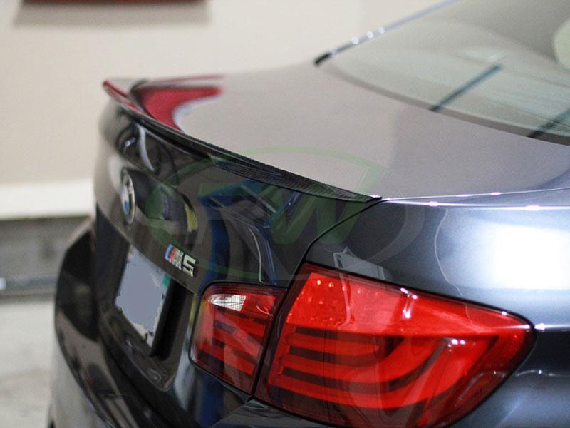 BMW F10 M5 with an RW Perf Style Vacuum Carbon Fiber Trunk Spoiler