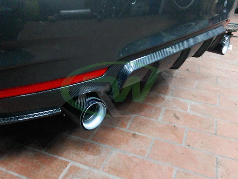 BMW 428I Convertible >> BMW F32/F33/F36 M Sport Performance Style Carbon Fiber Diffuser
